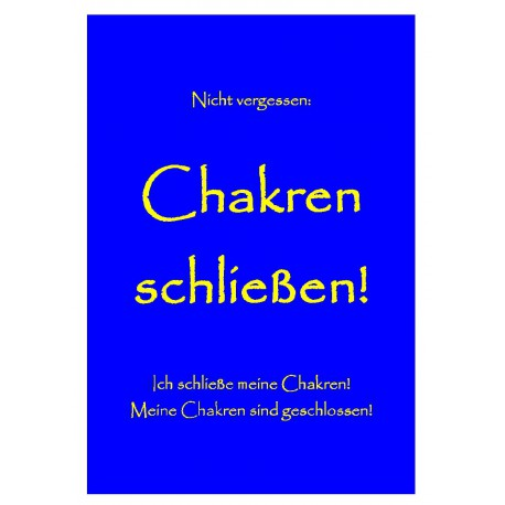 Chakren schließen