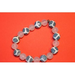 Achat-Bergkristall-Armband